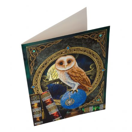 Crystal Art Giant D.I.Y Card Spell Keeper Owl